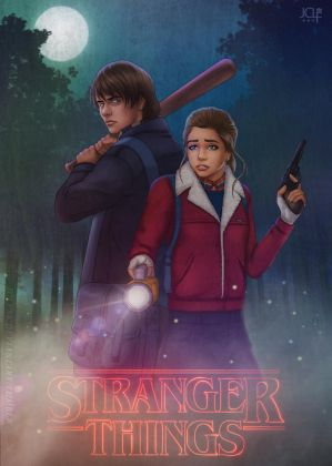 Stranger Things - Nancy x Jonathan by JCLF88