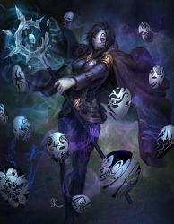 Commission - The Witch of a Thousand Faces by SKtneh