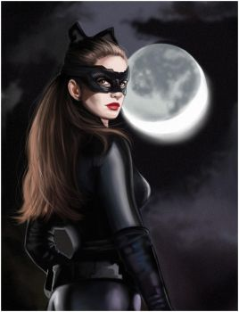 Anne Hathaway as Catwoman by MartaDeWinter