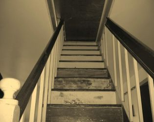 Nowhere Staircase -sepia by Vincent-Nocturnal