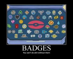 Badges Motivational Poster by Sonic-chaos