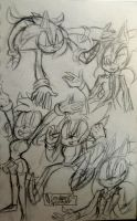 Sonic sketches 2 by CeruleanSpeedster