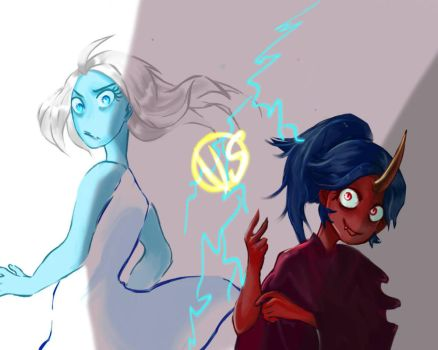 Light vs Dark / Really Ugly Sketch Thing redraw by Jellyfish12345