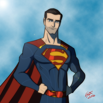 Tyler Hoechlin as Superman by jonathanserrot