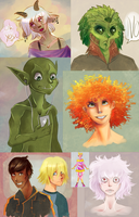 A sketchdump of people I like by TheSylverLining
