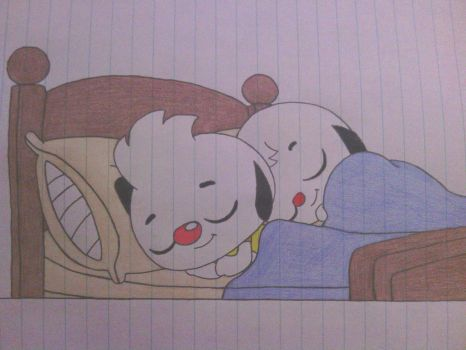 (Old Drawing) Sleeping Brothers by ShiftyGuy1994
