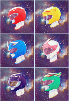 MMPR HELMETS by chico-robot