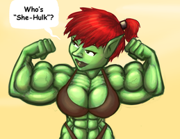 Goblin lady - Who's She-Hulk? by Ritualist