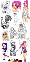 Marvel/DC sketchdump by Nina-D-Lux