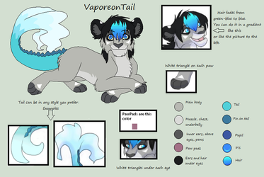 VaporeonTail's Character Chart by VaporeonTail