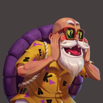 One face a day 231 Master Roshi (Dragon Ball) by Dylean