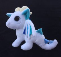 Custom Pendragon plush white with shades of blue by angelberries