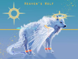 Heaven's Wolf - Adoptable 1 by SeerLight