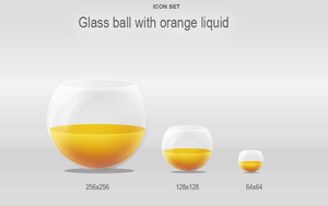 Glass ball with liquid by Lukezz