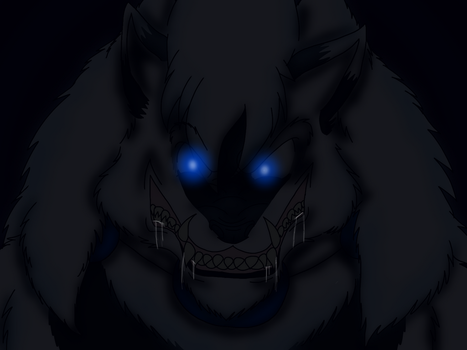 YCH insane grin by WerewolfProtecter