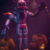FNAF : SL SFM | Halloween at Funtime Foxy GIF by MARTIN3X