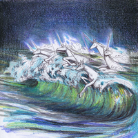 Unicorns Emerging from the Sea by characterundefined
