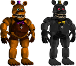 Unnightmare Fredbear and Nightmare v2 by Fnaf-fan201