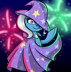 The great and powerful Trixie by bronygirlforeva
