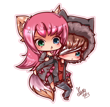 The fox and the cat by Naeru