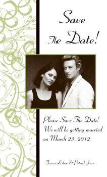 Lisbon and Jane Wedding Sets: Save The Date by AdrianneB78239