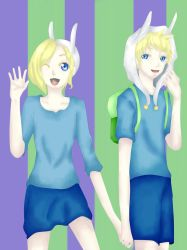 Finn and Fionna Genderbend by CelestialSkyes