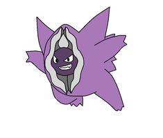 Gengar/ Cloyster Pokefusion by TheWalrusclown