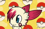 Puff the plusle by Paige-the-unicorn