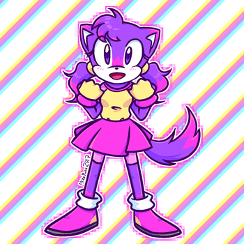 Redraw of my Old Sonic OC [more info in desc] by mikapuna
