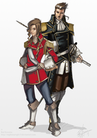 Anait and Iurlass character concepts by NightmareGK13