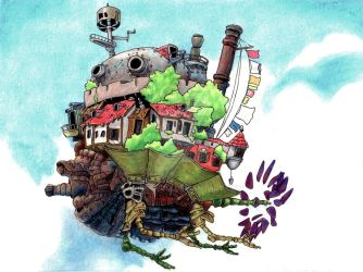 Howl's Moving Castle by AkiBrocoli