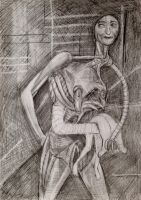 Drawing No.1000 'My Dreadful Self' by TheDreadfulPencil