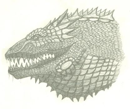 Glaurung sketch by OmegaZilla