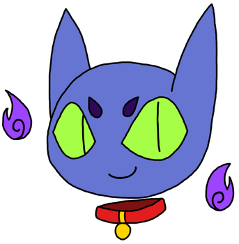 Iren the Ghost Cat (With lines) by grimGadabout