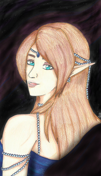 Wynn, elven beauty of the void by SapphireAngelBunny