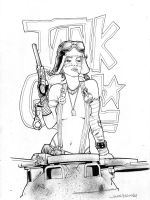 Tank Girl Sketch by jasonbaroody