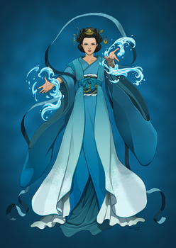 Revenge of the Pantheons : Suijin by doubleleaf