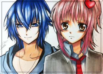 Ikuto and Amu by Sophie--Chan