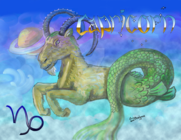 Zodiac Capricorn by DarkRubyMoon