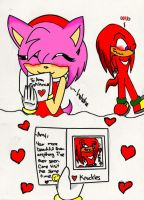 Knuckles First Love Card by DeadlyClaws
