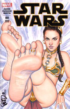 Slave Padme Barefoot by scottblairart