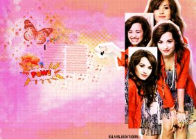 Demi lovato - wallpaper by SilvisJ
