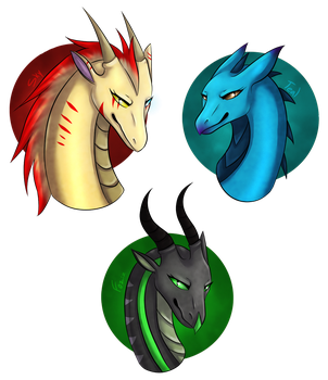 My Friends as Dragonesses! by Ray-Ken