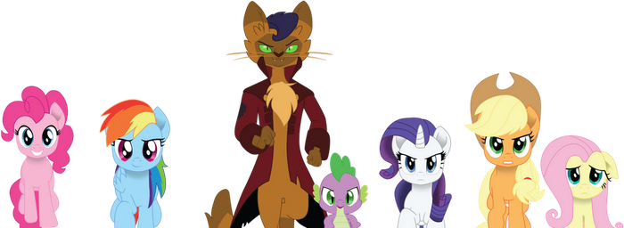 The Mane 5, Spike and Capper marching into battle by EJLightning007arts