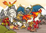 First Generation Fire Types by dotYAO