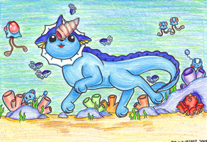 Vaporeon Pup by michelle192837