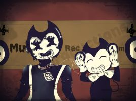 Stranglation by Music (bendy and Sam) by Ashuriproductions
