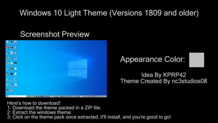 Windows 10 Light Theme (Versions 1809 And Older) by nc3studios08
