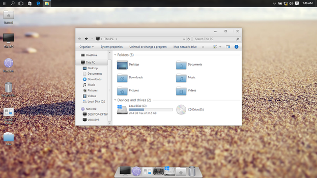 Elementary OS on Win10 by hs1987