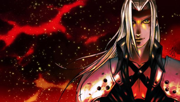 Sephiroth Wallpaper by dronio